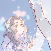 宫崎骏动漫美少女头像插画,轻松脱俗的动漫女生头像森系7